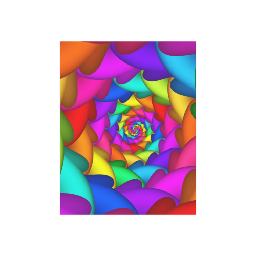 """Psychedelic Rainbow Spiral Poster 14""""x11"""""""