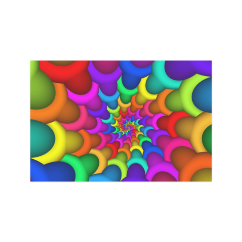 """Psychedelic Rainbow Spiral Poster 20""""x30"""""""