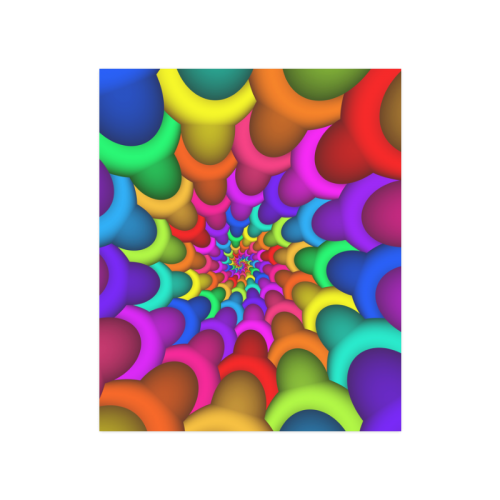 "Psychedelic Rainbow Spiral Poster 20""x24"""