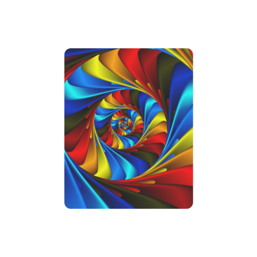 Psychedelic Rainbow Spiral Rectangle Mousepad