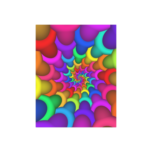 "Psychedelic Rainbow Spiral Poster 14""x11"""