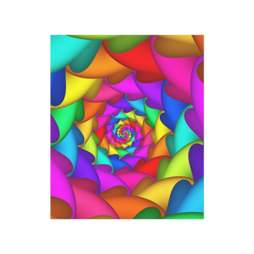 """Psychedelic Rainbow Spiral Poster 20""""x24"""""""