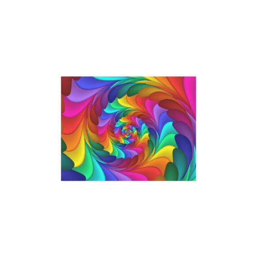 "Psychedelic Rainbow Spiral Poster 11""x8.5"""