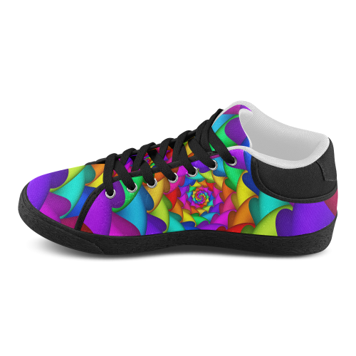 psychedelic rainbow spiral s chukka canvas shoes