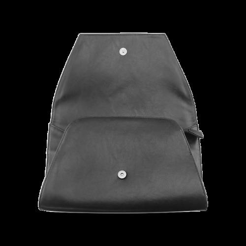 Blue Glossy Spiral Fractal Clutch Bag (Model 1630)