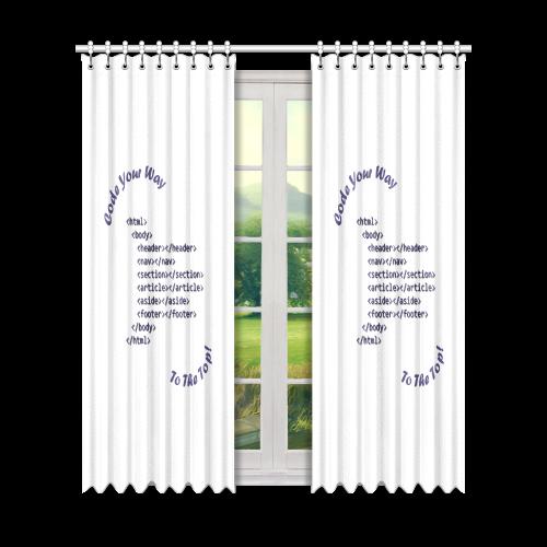 "Code Your Way (Dark) Window Curtain 50"" x 84""(One Piece)"