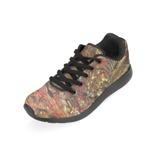 GOLD COPPER SILVER Men's Running Shoes (Model 020)
