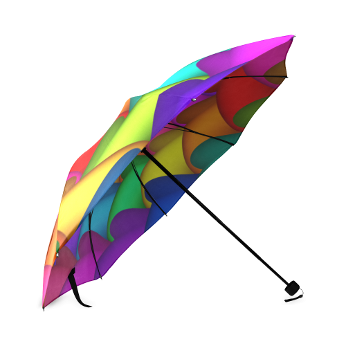Psychedelic Rainbow Spiral Umbrella Foldable Umbrella (Model U01)