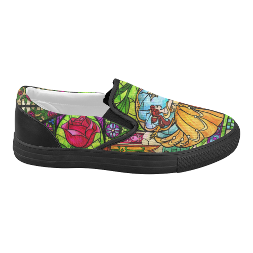 Tale as Old as Time Women's Slip-on Canvas Shoes (Model 019)