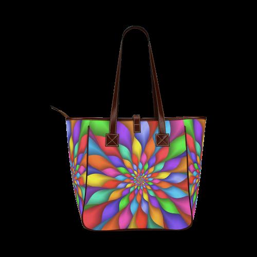 """Psychedelic Rainbow Petals Tote Bag 13"""" Classic Tote Bag (Model 1644)"""