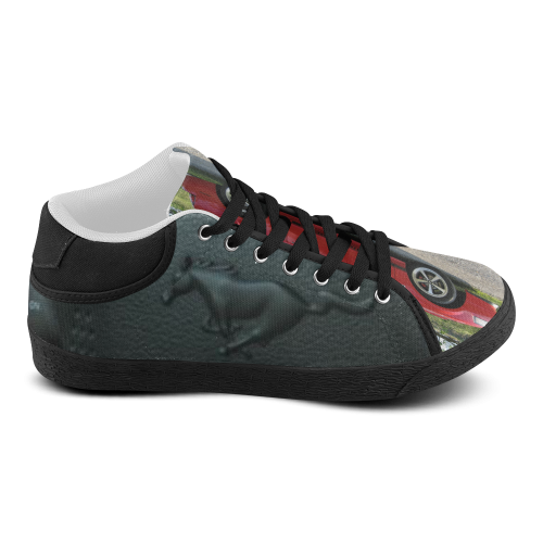 RED FORD MUSTANG WRAP Men's Chukka Canvas Shoes (Model 003)