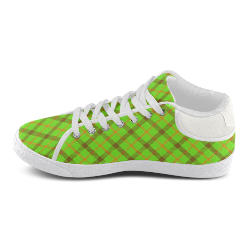 test plaid 1 Men's Chukka Canvas Shoes (Model 003)