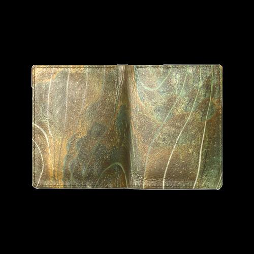 BEADED PAISLEY WASTE LANDS Men's Leather Wallet (Model 1612)