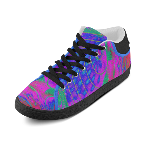 EYE BRAILLE NEON Men's Chukka Canvas Shoes (Model 003)