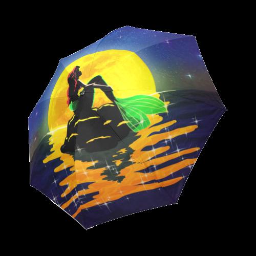 The Moon and the Mermaid Foldable Umbrella (Model U01)