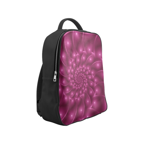 Berry Pink Glossy Spiral Backpack Popular Backpack (Model 1622)