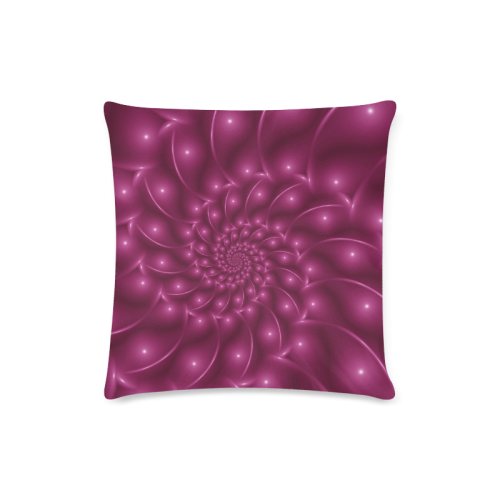 "Berry Pink Glossy Spiral Zippered Pillow Case one side 16x16 Custom Zippered Pillow Case 16""x16"" (one side)"