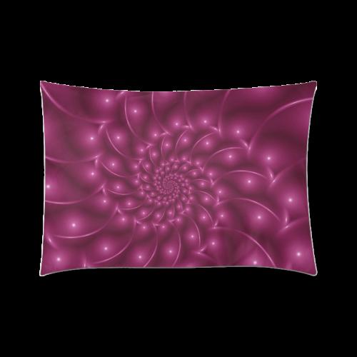 "Berry Pink Glossy Spiral Zippered Pillow Case one side 20x30 Custom Zippered Pillow Cases 20""x30"" (one side)"