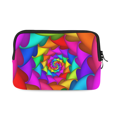 Psychedelic Rainbow Spiral iPad mini