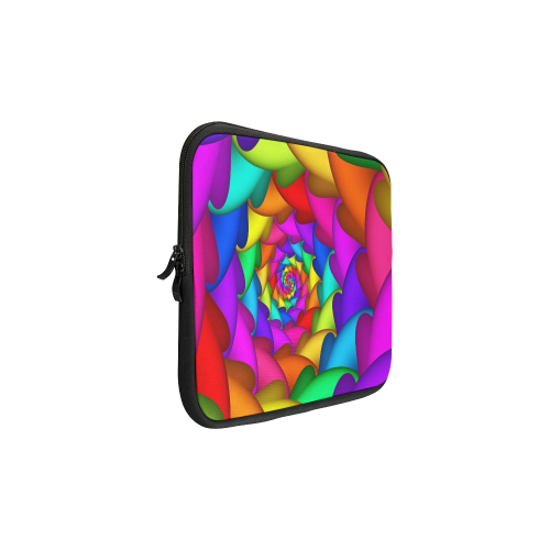 Psychedelic Rainbow Spiral Laptop Sleeve 11''