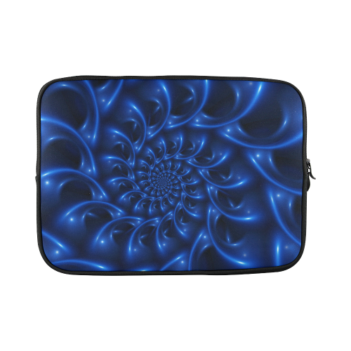 "Glossy Blue Spiral Custom Sleeve for Laptop 15.6"""