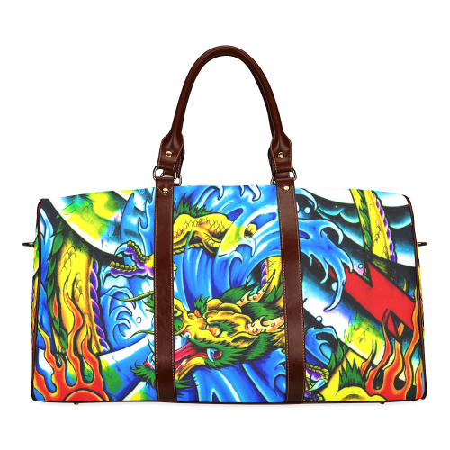 Tattoo Dragon Waterproof Travel Bag/Large (Model 1639)