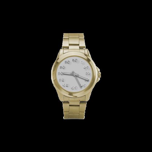 Conceptual Dice Clock Custom Gilt Watch(Model 101)