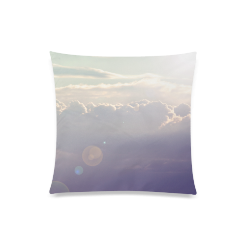 "Purple Sky Custom Zippered Pillow Case 20""x20""(Twin Sides)"