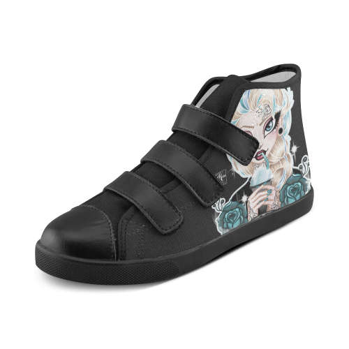 FrozenMMM KIDS Shoes Velcro High Top Canvas Kid's Shoes (Model 015)