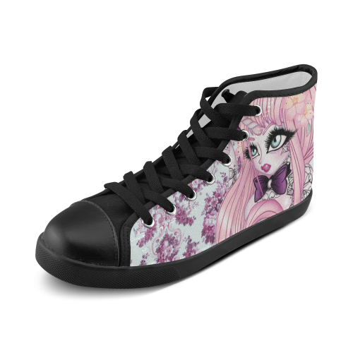 Unicorn Girl Womans Chuck Taylors Women's High Top Canvas Shoes (Model 002)