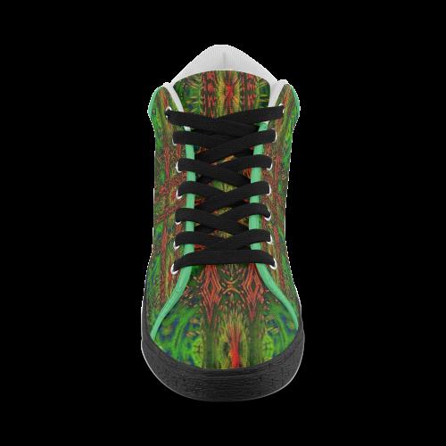 ABSTRACT NATIVE FLAG Men's Chukka Canvas Shoes (Model 003)