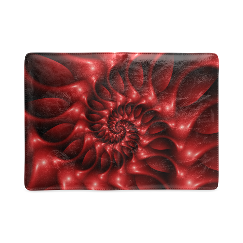 Plum Red Glossy Spiral Custom NoteBook A5