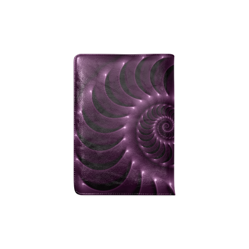 Plum Purple Glossy Spiral Custom NoteBook A5