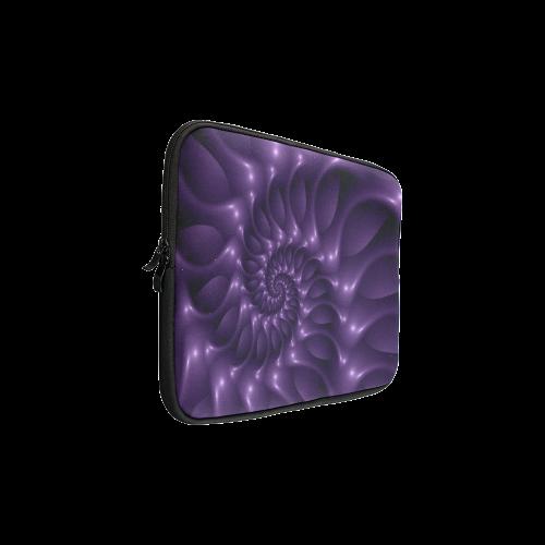 "Glossy Purple Spiral Custom Sleeve for Laptop 15.6"""