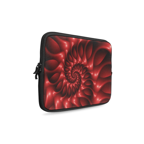 Glossy Red Spiral Laptop Sleeve 10''