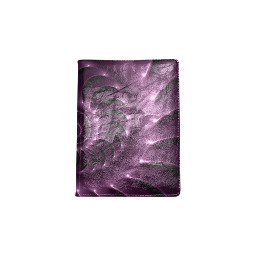 Plum Purple Glossy Spiral Custom NoteBook B5