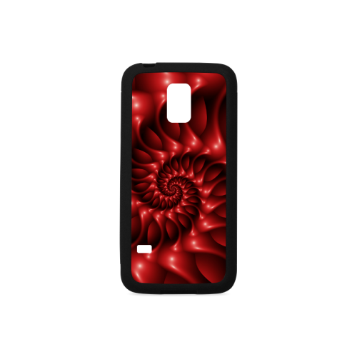 Glossy Red Spiral Rubber Case for Samsung Galaxy S5 mini