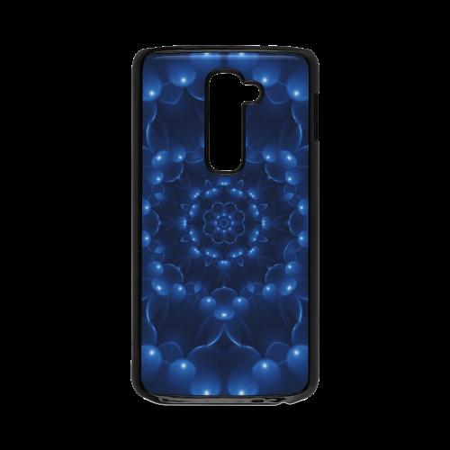 Glossy Blue Spiral Hard Case for LG G2