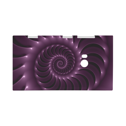 Glossy Purple Spiral Hard Case for Nokia Lumia 920