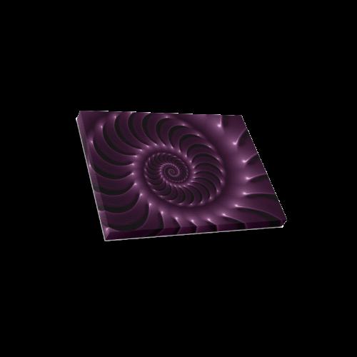 "Glossy Purple Spiral Canvas Print 16""x12"""