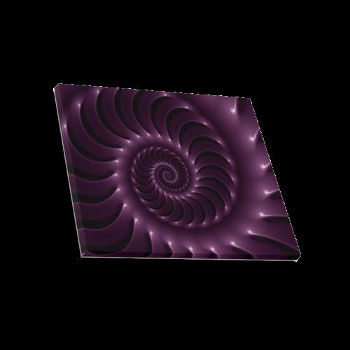 "Glossy Purple Spiral Canvas Print 20""x16"""