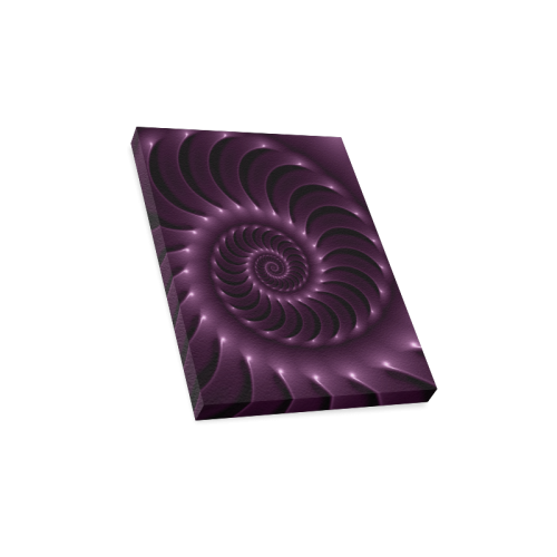 "Glossy Purple Spiral Canvas Print 12""x16"""