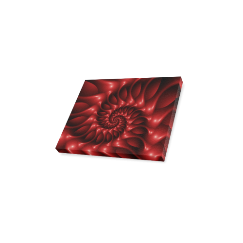 """Glossy Red Spiral Canvas Print 10""""x8"""""""