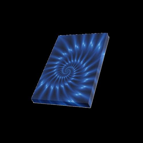 "Glossy Blue Spiral Canvas Print 8""x10"""