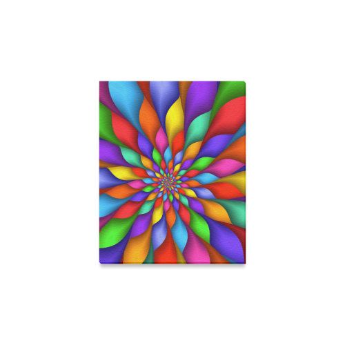 """Psychedelic Rainbow Spiral Canvas Print 8""""x10"""""""