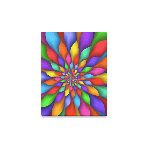 """Psychedelic Rainbow Spiral Canvas Print 11""""x14"""""""