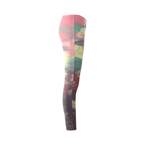 pink ocean skies Cassandra Women's Leggings (Model L01)
