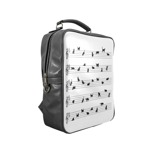 Conceptual Cat Song Musical Notes Square Backpack (Model 1618)