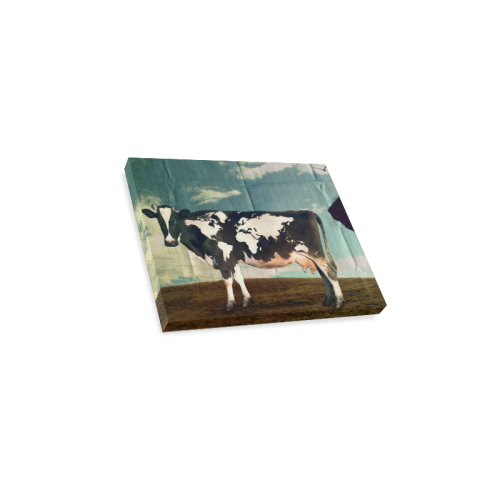 """Surreal Dairy Cow World Map Canvas Print 10""""x8"""""""