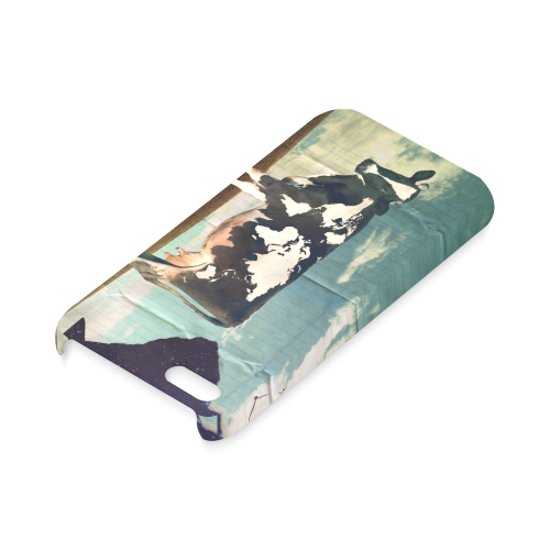 Surreal Dairy Cow With World Map Hard Case for iPhone 5C